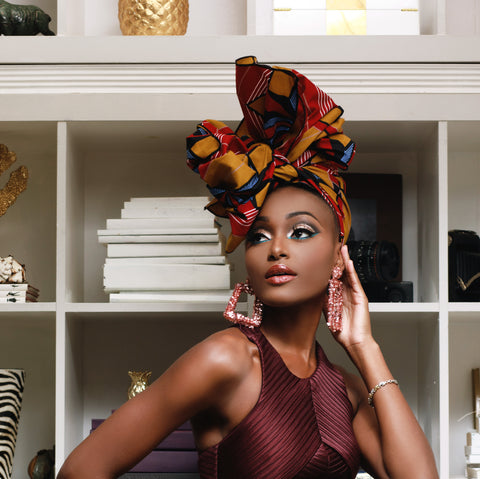 Edo Silk Lined Headwrap