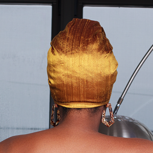 Etienne Raw Silk Headwrap