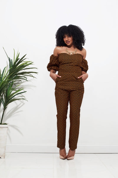 Feza Bubble Sleeve Jumpsuit