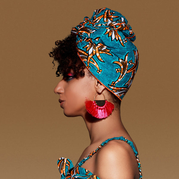 Gina Silk Lined Headwrap - Head Wraps