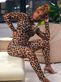 Mesh Cheetah Jumpsuit