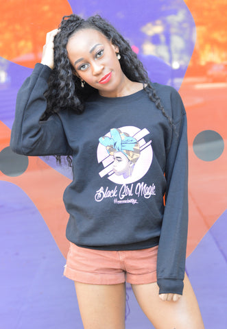 Black Girl Magic Sweatshirt - Black - Headwraps