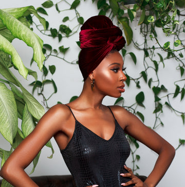 Bordeaux Velvet Headwrap