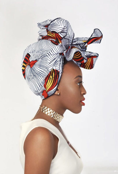 Mouna Silk Lined Headwrap White - Headwraps