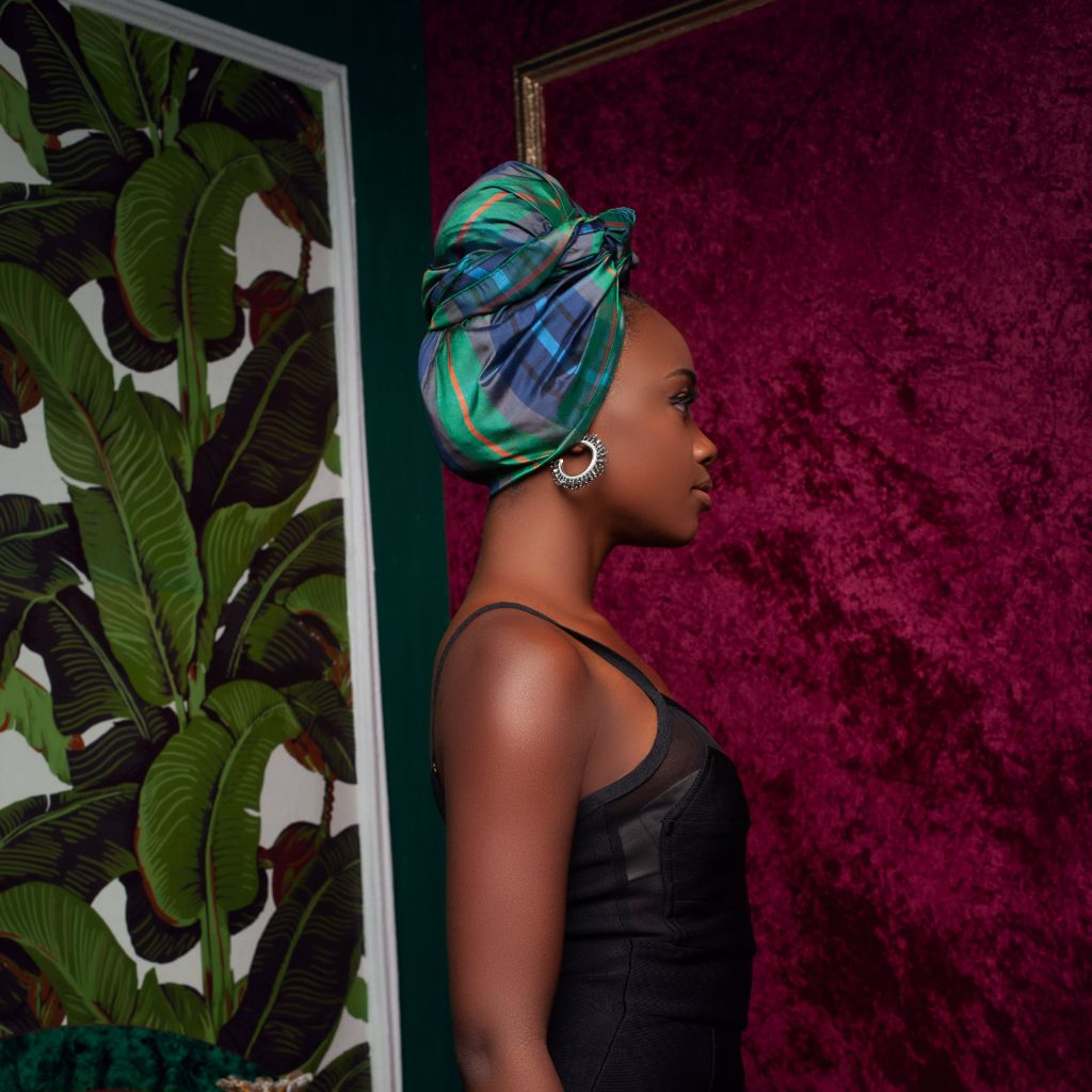 Ina Raw Silk Headwrap - Head Wraps