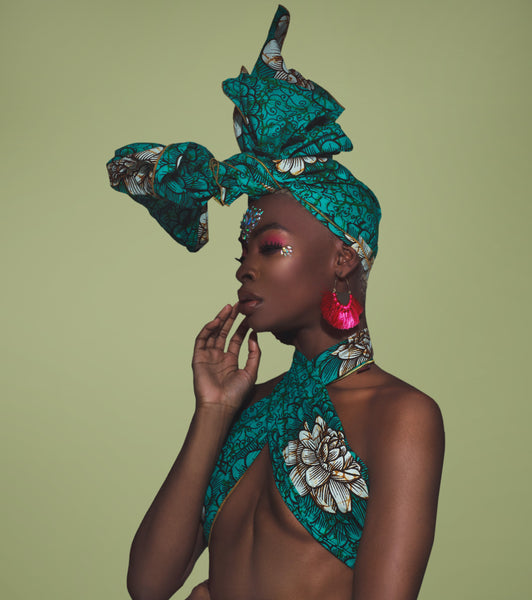 Green Yemoja Headwrap