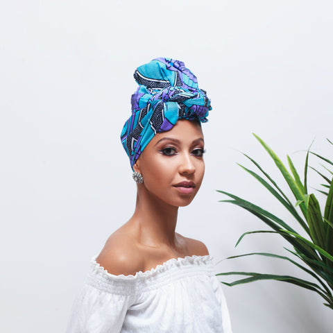 Janice Silk Lined Headwrap