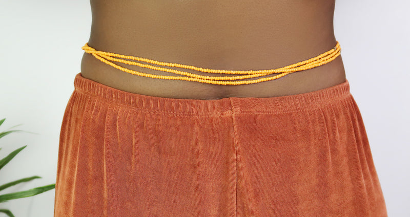 Light Orange Waist Beads