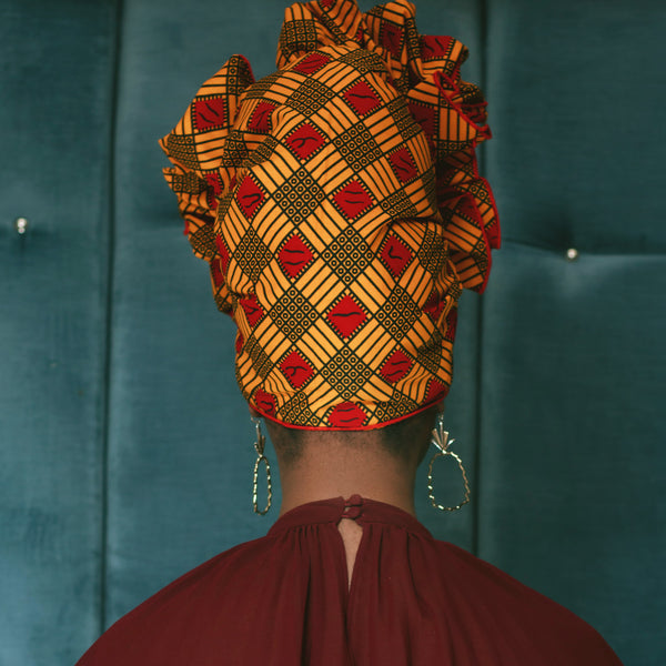 Merry Gold Silk Lined Headwrap - Head Wraps