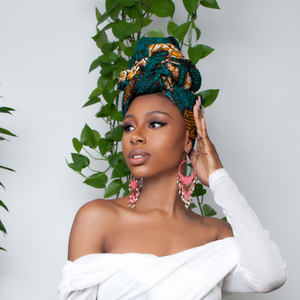 Monstera Silk Lined Headwrap - Headwraps
