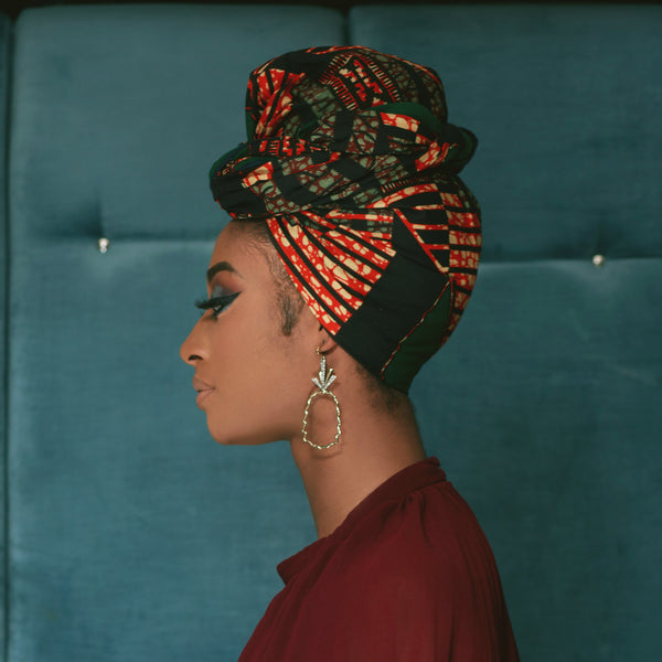 Nkechi Silk Lined Headwrap - Head Wraps