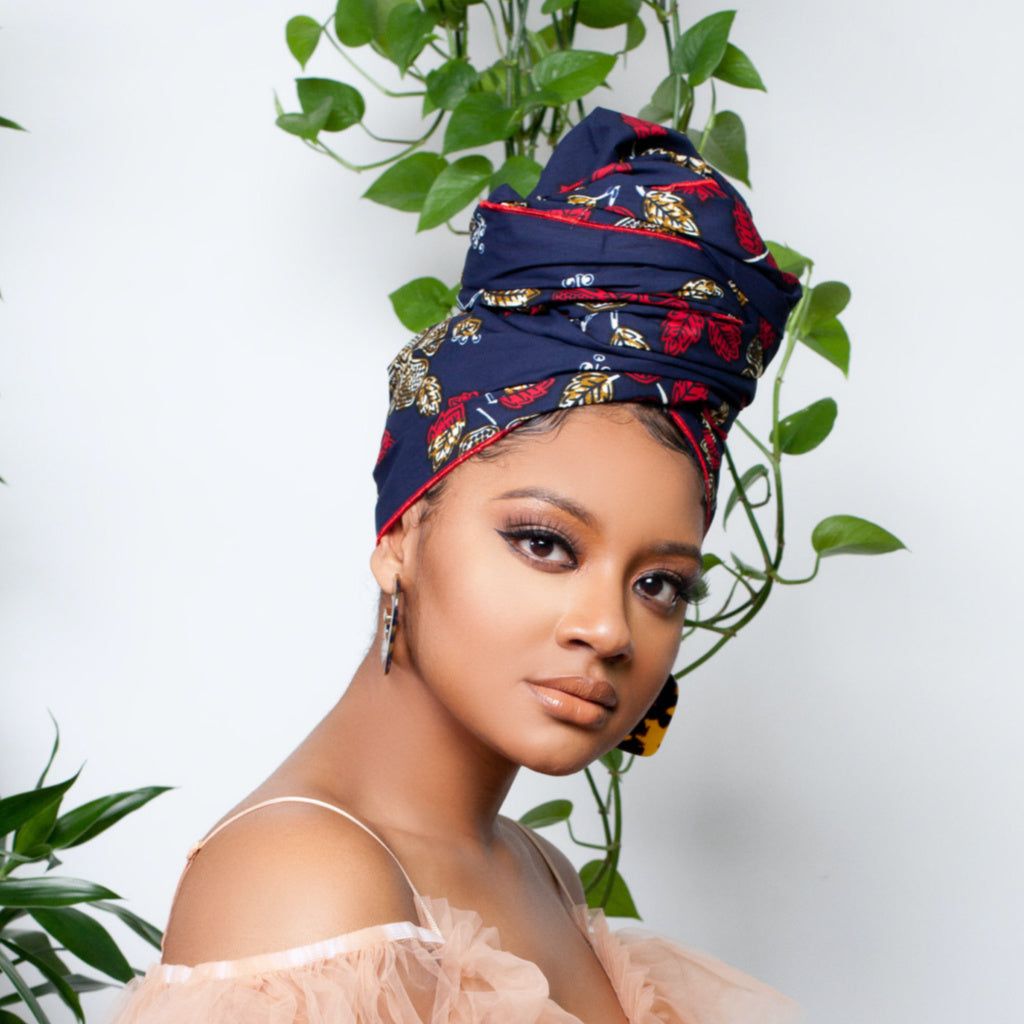 Nyala Silk Lined Headwrap - Head Wraps