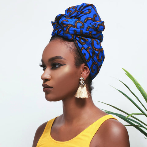 Nzinga Silk Lined Headwrap - Head Wraps