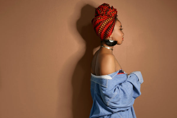 Red Misan Headwrap - Headwraps