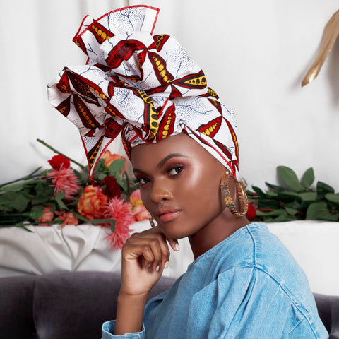 Tisha Silk Lined Headwrap - Head Wraps