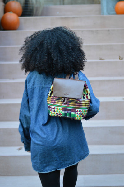 Abina Brown Mini Backpack - Backpacks