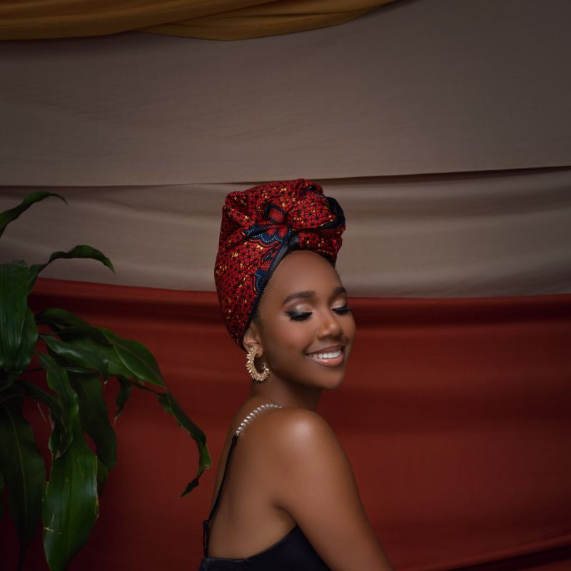Akuchi Silk Lined Headwrap