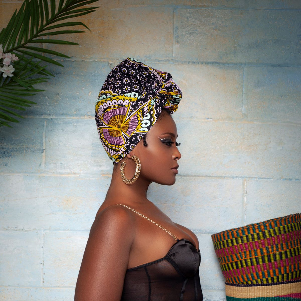 Finda Silk Lined Headwrap - Head Wraps