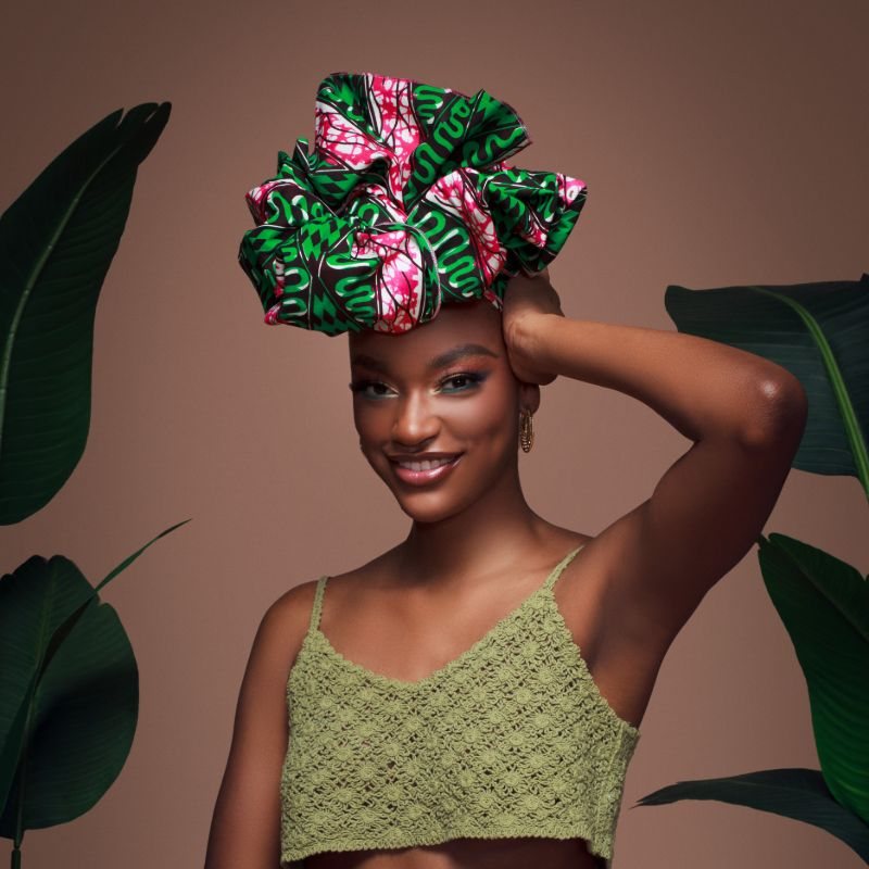 Green Rabe Headwrap - Head Wraps