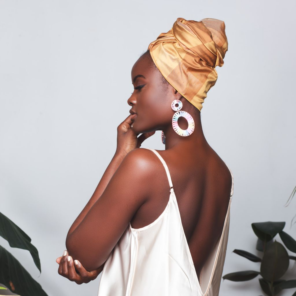 Margeaux Raw Silk Headwrap
