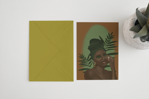 Serene Green Greeting Card