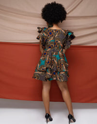Mrembeisha Ruffle Cut Out Dress