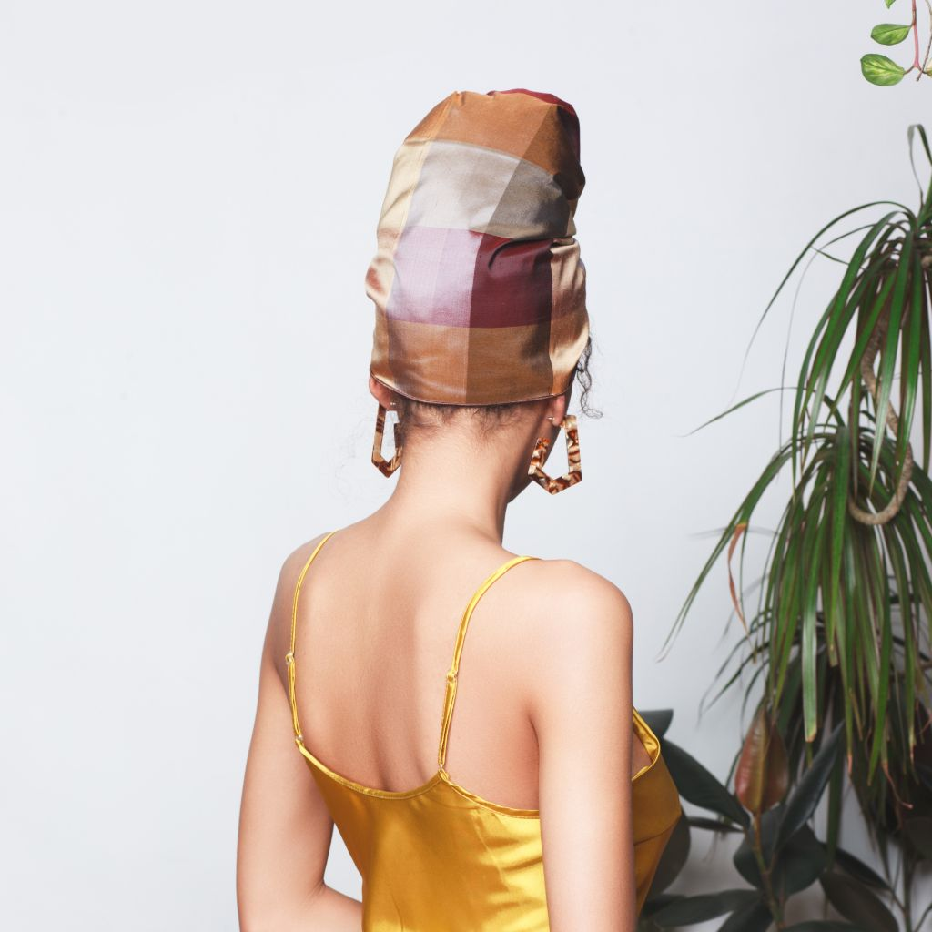 Noemie Raw Silk Headwrap