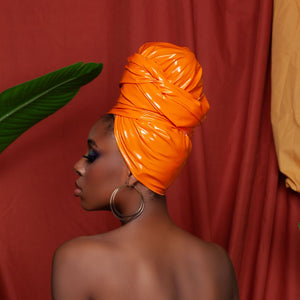 Osan Patent Leather Headwrap