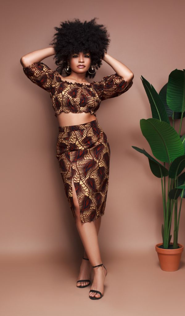 Shantell Bubble Sleeve Crop