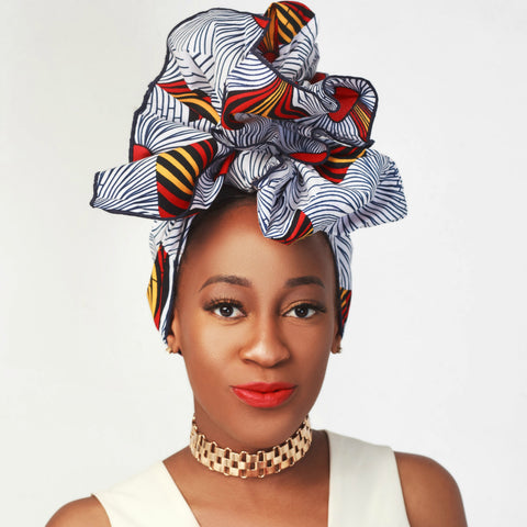 White Mouna Headwrap - Headwraps
