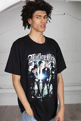 Official Motley Crue Group Photo Unisex T-Shirt Halloween Pumpkin Alice Cooper