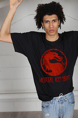 Official Mortal Kombat Distressed Logo Unisex T-Shirt Video Game Console Gamer