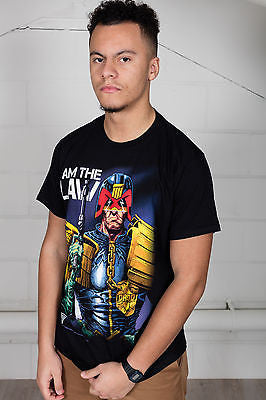 Official 2000 AD Judge Dredd I Am The Law Unisex T-Shirt Rogue Trooper 3 Chopper