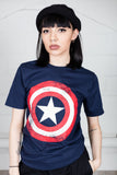Marvel Comics Captain America Distressed Unisex T-Shirt