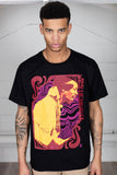 Jimi Hendrix Waves Unisex T-Shirt