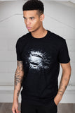 Superman Man of Steel Eroded Logo Unisex T-Shirt