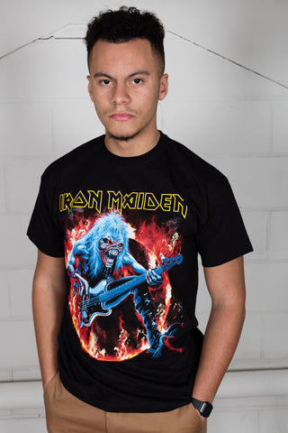 Iron Maiden Fear Live Flames Unisex T-Shirt