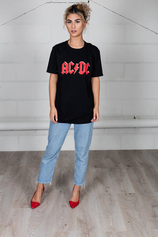AC/DC Classic Red Logo Unisex T-Shirt