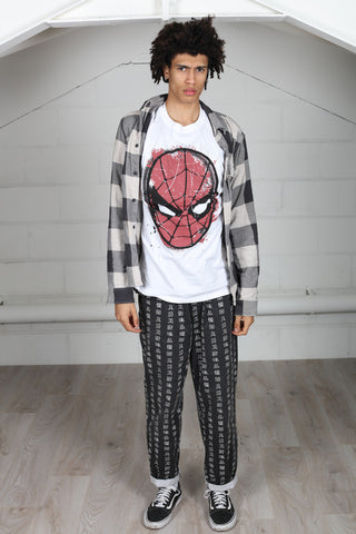Marvel Comics Spidey Big Head Distressed Unisex T-Shirt