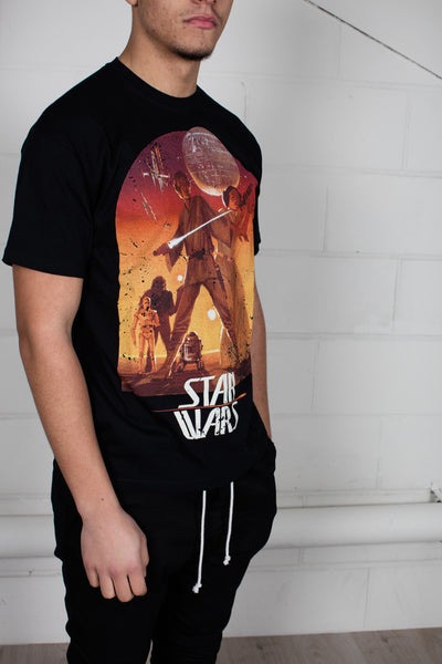 Star Wars Retro Sunset Poster Unisex T-Shirt