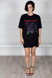 Thin Lizzy Black Rose Unisex T-shirt Dress