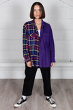 Vintage Corduroy Checked Flannel Reconstructed Unisex Shirt