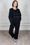 Vintage Checked Retro Knitted Unisex Jumper