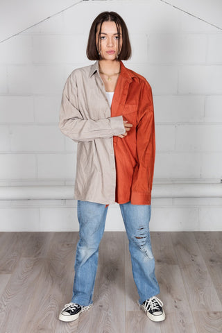 Vintage Corduroy Unisex Reconstructed Shirt
