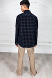 Vintage Checked Navy Corduroy Shirt