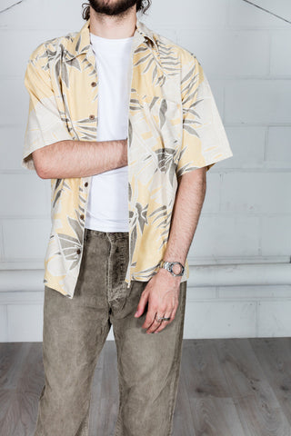 Vintage Yellow Floral Hawaii Shirt