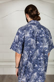 Vintage Blue Flower Hawaii Shirt