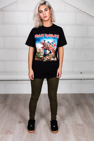 Iron Maiden UK Trooper Flag Unisex T-Shirt