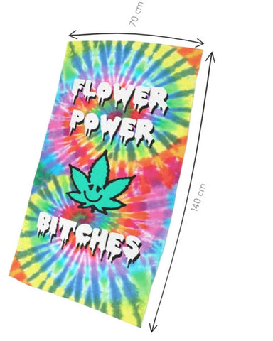 Flower Power Bitches Beach Towel