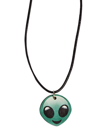 Alien Emoji Necklace